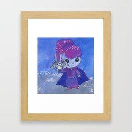 Moonkhin Iridum Violet Framed Art Print
