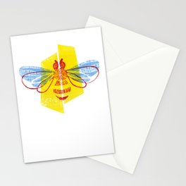 Be Safe - Save Bees linocut Stationery Cards