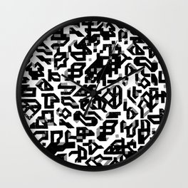 To Build A Castle_ Black and white Wall Clock