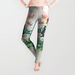 Bird in Flowers Leggings