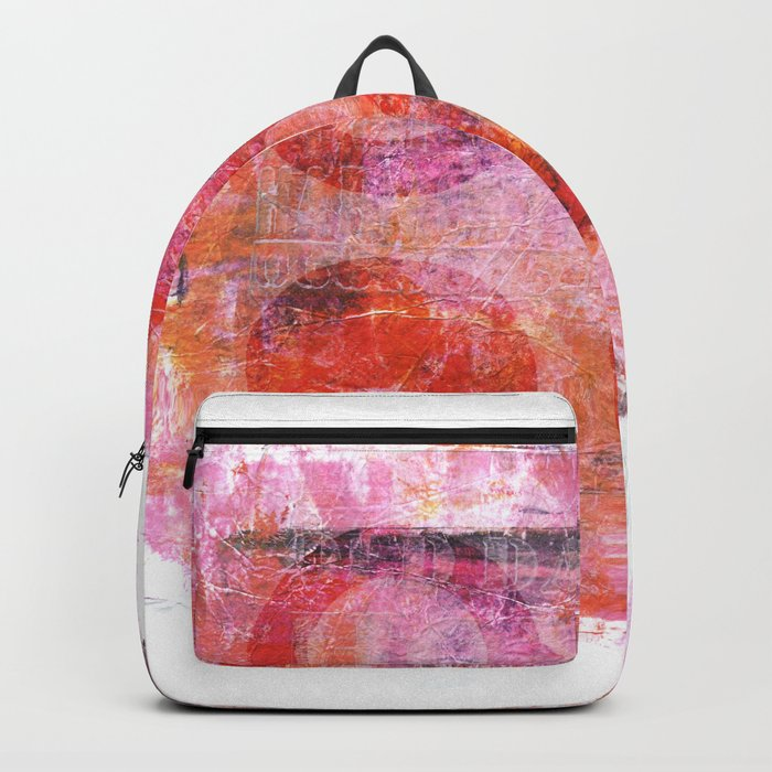 abstract circles painted artwork Backpack