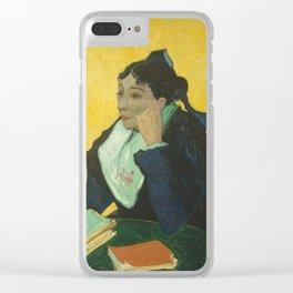 Vincent van Gogh - L'Arlésienne: Madame Joseph-Michel Ginoux (Marie Julien, 1848–1911) Clear iPhone Case
