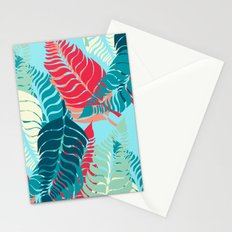 Leave Me Layered (Aqua Red) Stationery Cards