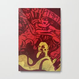 Psychedelic Miklo Metal Print
