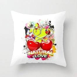 Natural Love Throw Pillow