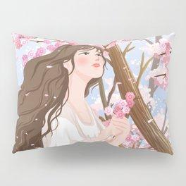 Girl In Flower Sea Pillow Sham