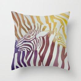Contrasting Zebras Throw Pillow