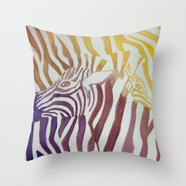 Contrasting Zebras Throw Pillow