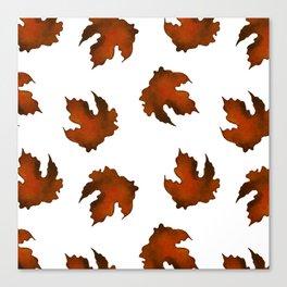 Brown dried leaves Canvas Print