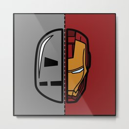 Old & New Iron Man Metal Print