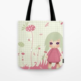 Kiwi Doll 'Mon jardin secret' Tote Bag