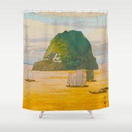 Shôkozan Hiroshi Yoshida Vintage Japanese Woodblock Print Shower Curtain