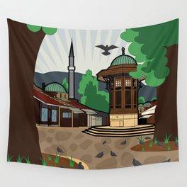 Sarajevo - landscape Wall Tapestry
