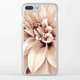 Golden Pink Dahlia, Forever Thine Clear iPhone Case
