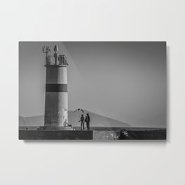 Istanbul : A Fusion of Black and White Metal Print
