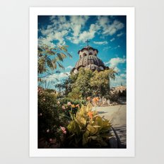 Garden Church  Art Print