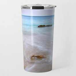"""Serenity beach"". Praia Do Porto Mos At Sunset. Algarve. Portugal Travel Mug"