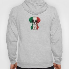 Cute Puppy Dog with flag of Italy Hoody
