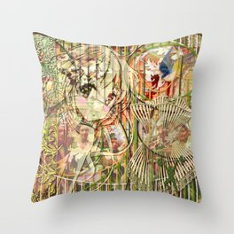 Jeune fille de joie usine (Factory girl joy) (2) Throw Pillow