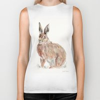 hare Biker Tanks featuring HARE  by Joelle Poulos
