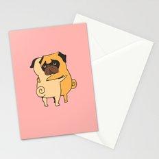 Pug Hugs Stationery Cards