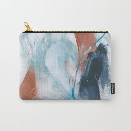Blue and Copper Feathers Carry-All Pouch
