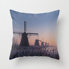 Sunrise at Kinderdijk II Throw Pillow