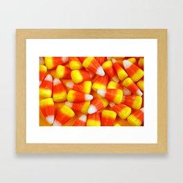 Halloween candy corn Framed Art Print
