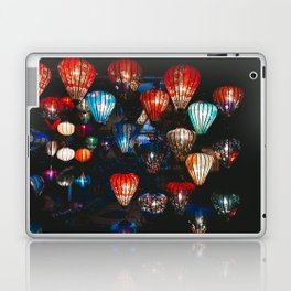 Lanterns in the Night Market, Hoi An, Vietnam Laptop & iPad Skin