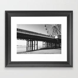 Blackpool Pier and big Wheel Framed Art Print