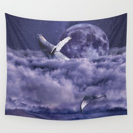 Having a whale of a time Wall Tapestry