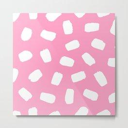Candyfloss Brushstrokes Metal Print
