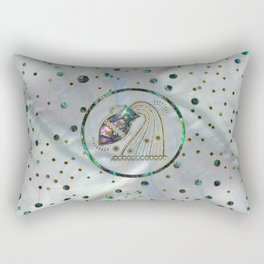 Aquarius Zodiac Gold Abalone on Constellation Rectangular Pillow