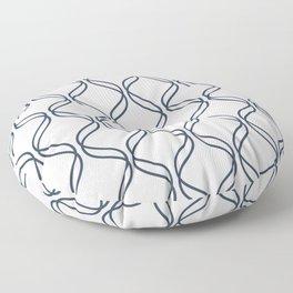 Double Helix - Navy #535 Floor Pillow