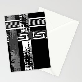 Creative Black and white pattern . The braided belts . Stationery Cards