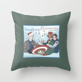 Superheroic Seasons Greetings (Chestnuts Roasting) Throw Pillow