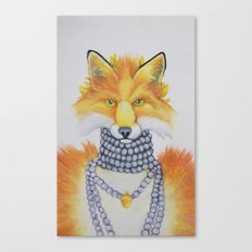 Fox Fur and Pearls Canvas Print