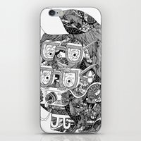 hipster iPhone & iPod Skins featuring hipster by Jess John