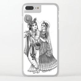Radha And Krishna Clear iPhone Case
