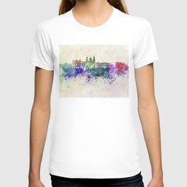 Salzburg skyline in watercolor background T-shirt