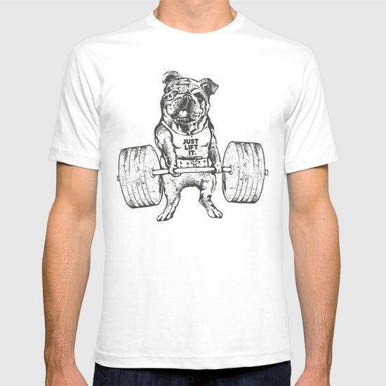English bulldog lift t shirt by huebucket society6 T shirts for english bulldogs