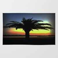 palm Area & Throw Rugs featuring Palm by Chris' Landscape Images & Designs