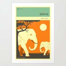 VISIT KENYA Art Print