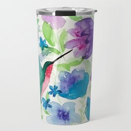 hummingbird Garden Travel Mug