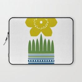 Nordic Yellow Flower Laptop Sleeve