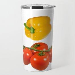 Vegetables with white background Travel Mug