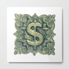 Money Symbol Ornament Metal Print