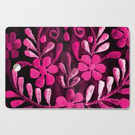 Hot Pink Mexican Flowers Cutting Board