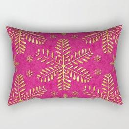 DP044-1 Gold snowflakes on pink Rectangular Pillow