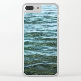 Aerial Ocean Photography | Sea Print | Beach | Waves | Blue | Turquoise | Green | Wave Clear iPhone Case